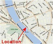 Map of Budapest Holiday Apartment for Rent